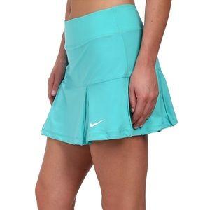 Nike Dri-Fit 4 Pleated Blue Tennis Skirt